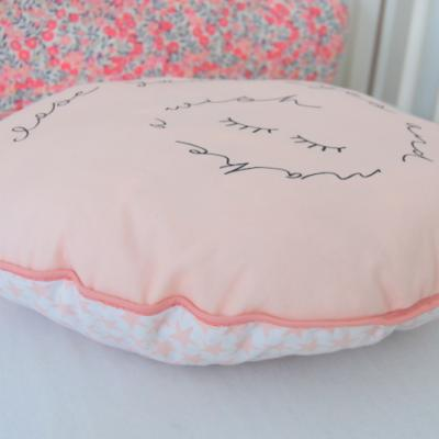 Coussin rêve rond rose